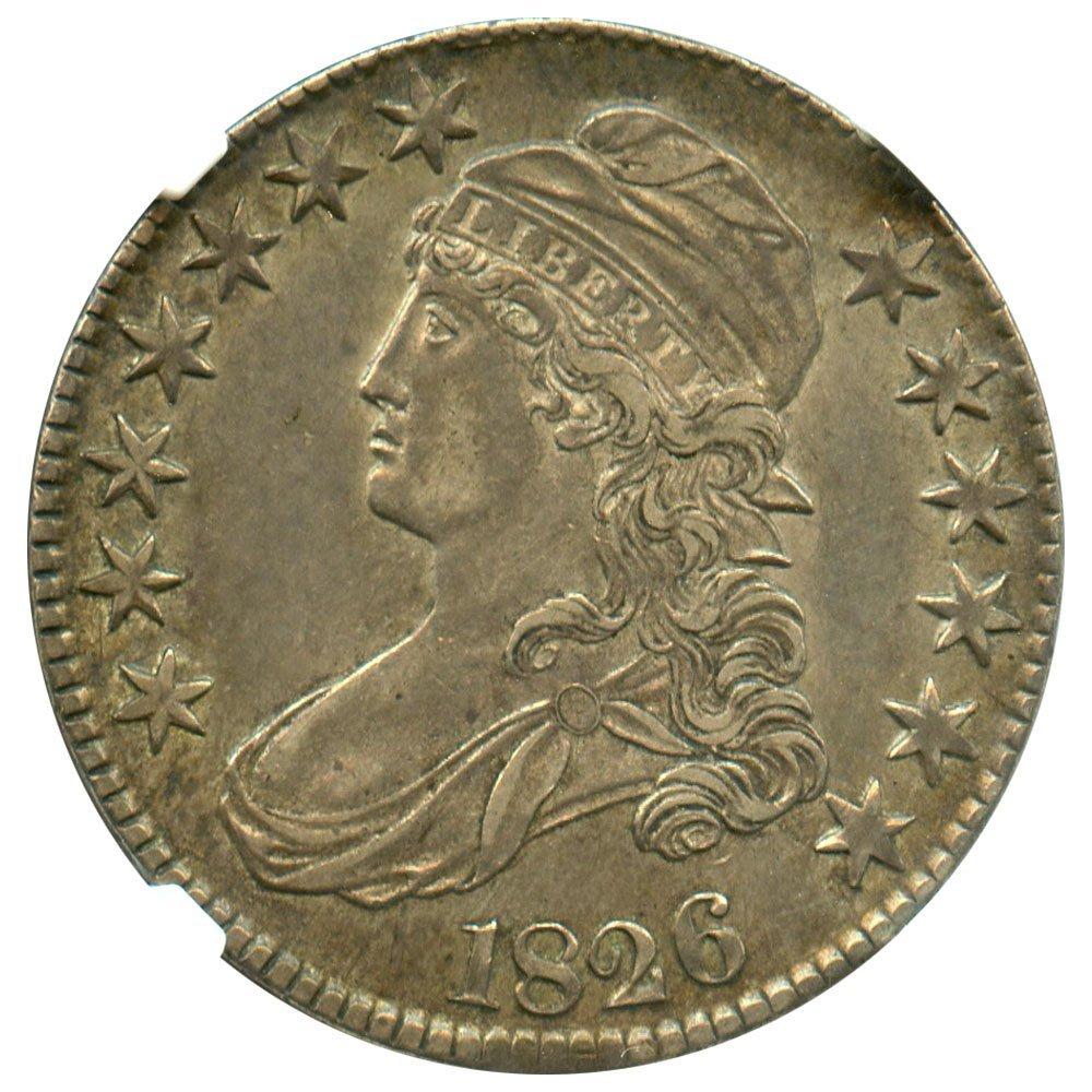 Rare coin for sale: 1826 P Bust Half Dollars Half Dollar NGC AU53