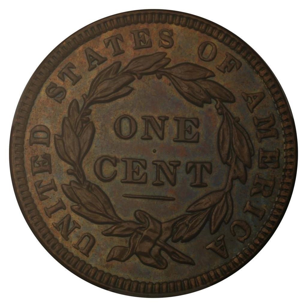 1838 Cent No Mint Mark Braided Hair PCGS PR-64