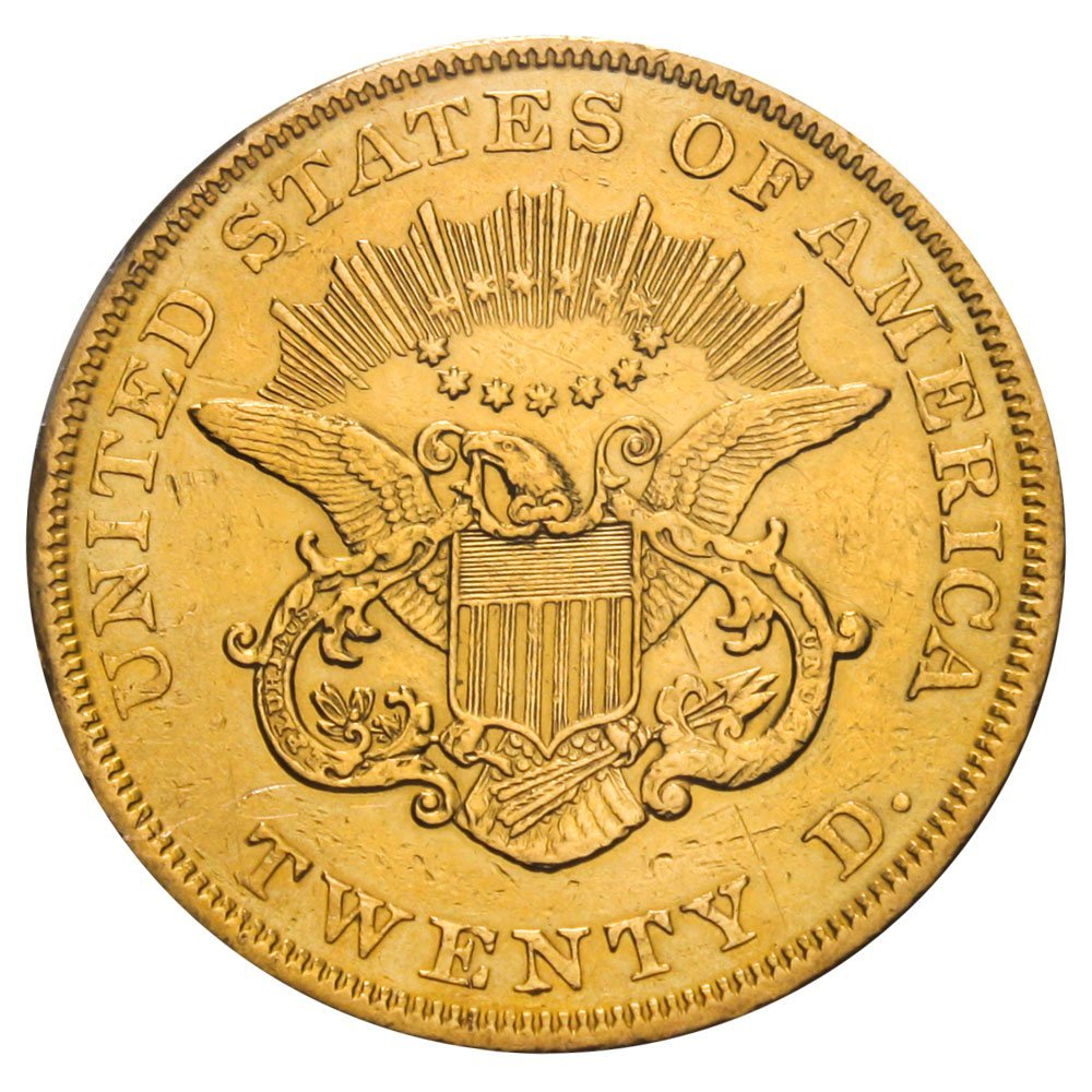 1853 P $20 Liberty Gold 1853/2 Twenty Dollar PCGS 98