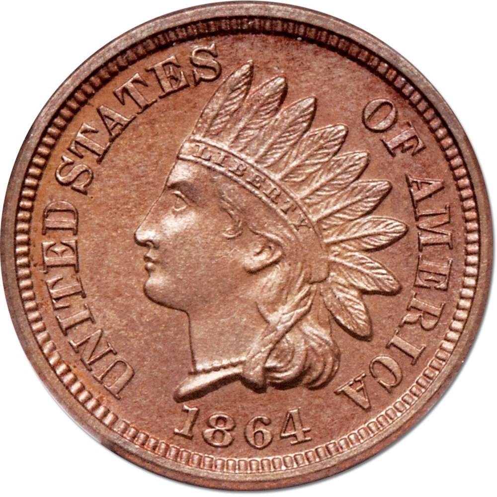 For Sale: 1864 Indian Head Cent NGC PF64