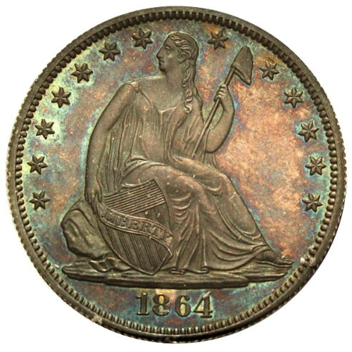 For sale: 1864 P Pattern Coinage Seated J-391 Dollar PCGS\CAC PR65