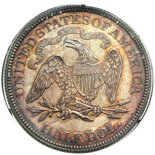 1864 P Pattern Coinage Seated J-391 Dollar PCGS\CAC PR65
