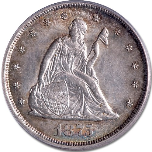 For sale: 1875 CC Liberty Seated Twenty Cent Piece PCGS/CAC MS-62