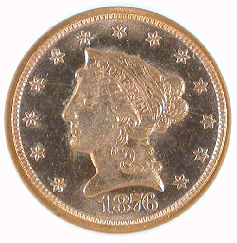 Rare coin for sale: 1876 P Liberty Head Two and a half Dollar NGC MS-65