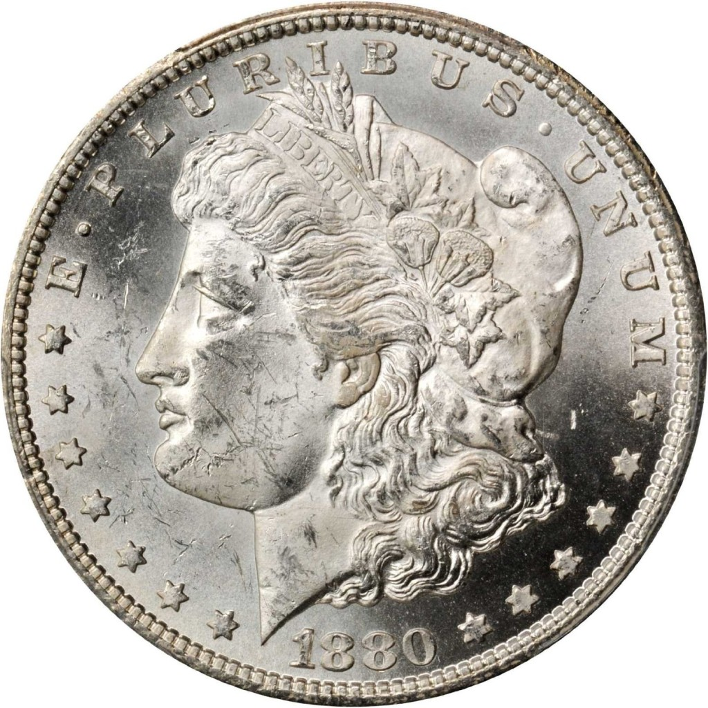 Rare coin for sale: 1880 CC Morgan Silver Dollar PCGS MS-63