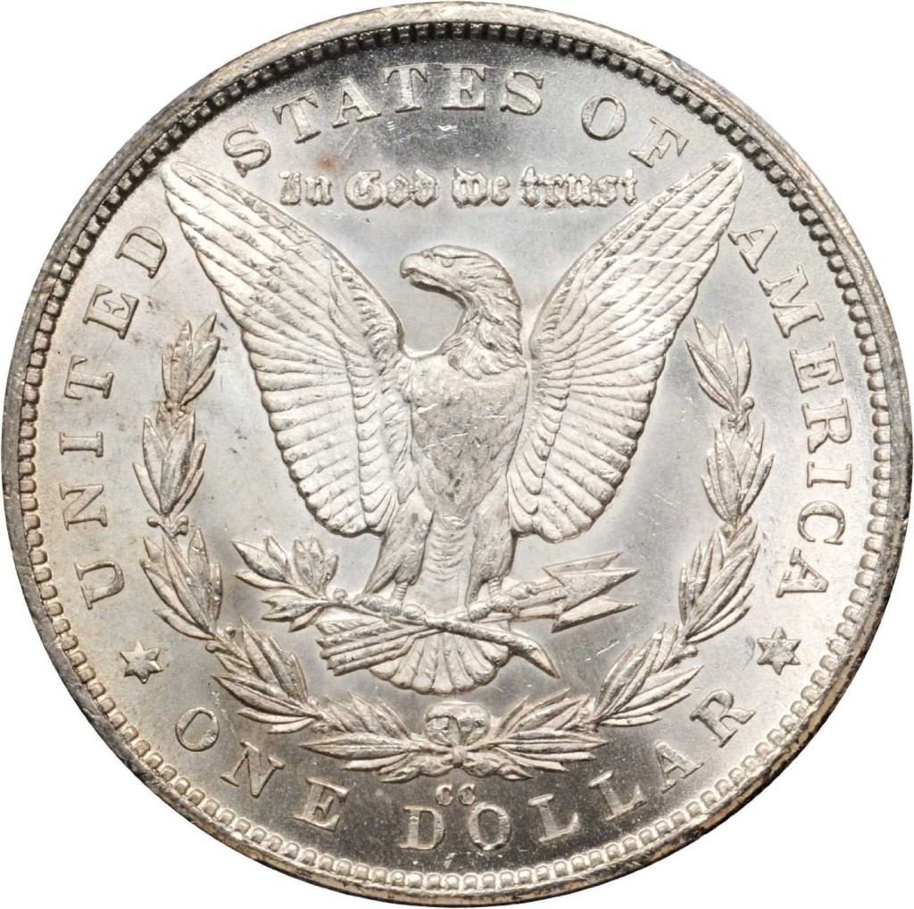1880 CC Morgan Silver Dollar PCGS MS-63