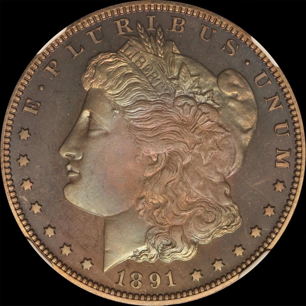 For sale: 1891 P Morgan Dollar NGC PF67