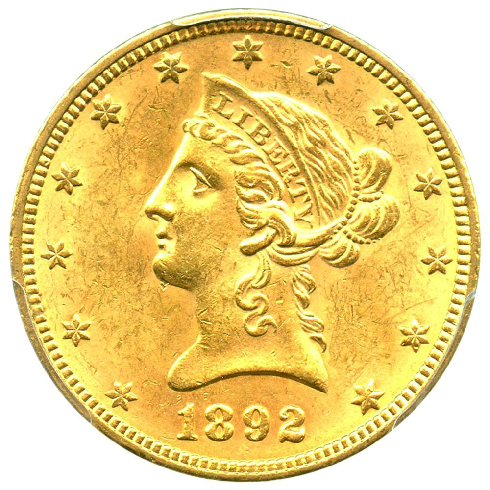 Rare coin for sale: 1892 P $10 Liberty Gold Ten Dollar PCGS\CAC MS63
