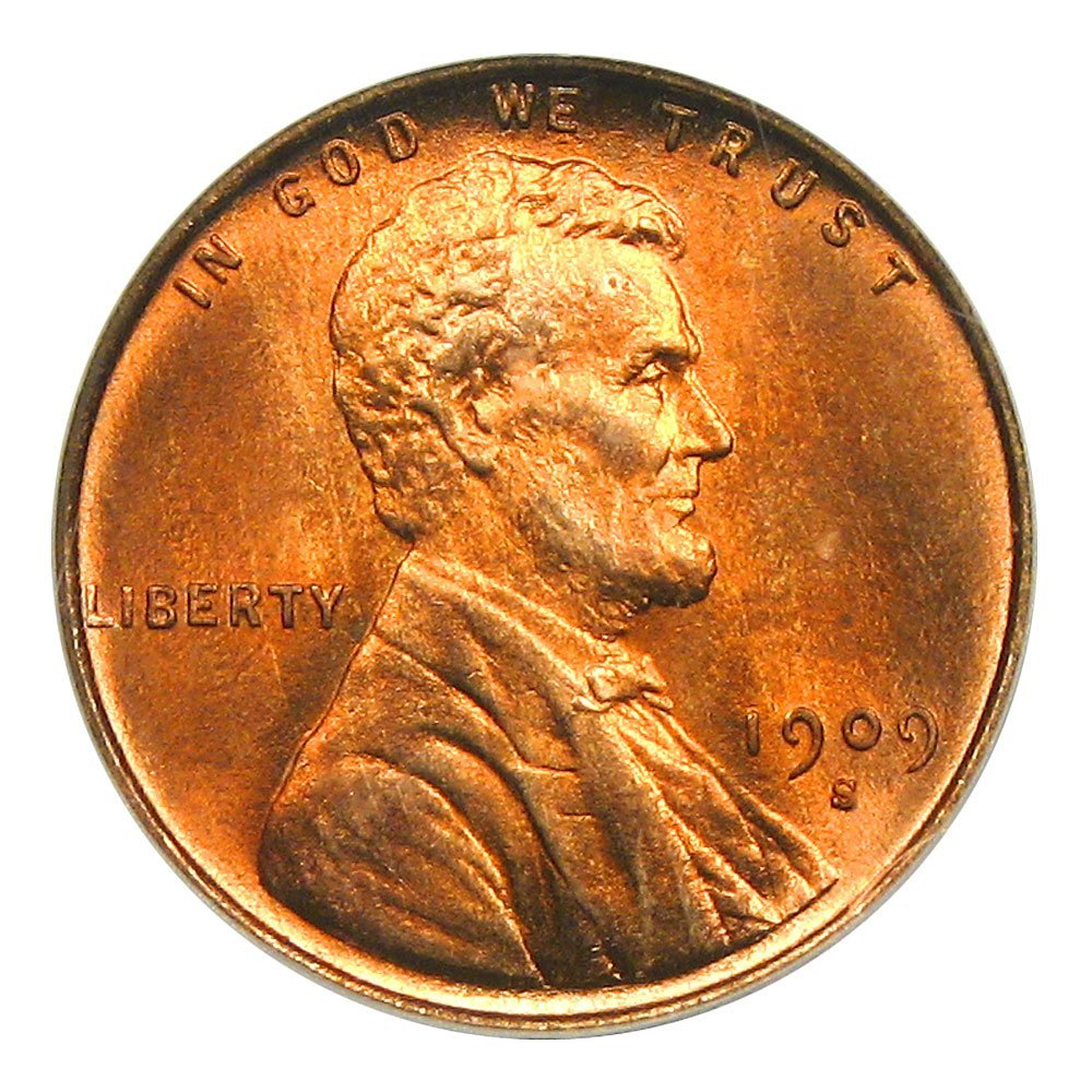 For sale: 1909 S Lincoln Cents Cent Wheat Penny RD PCGS MS66