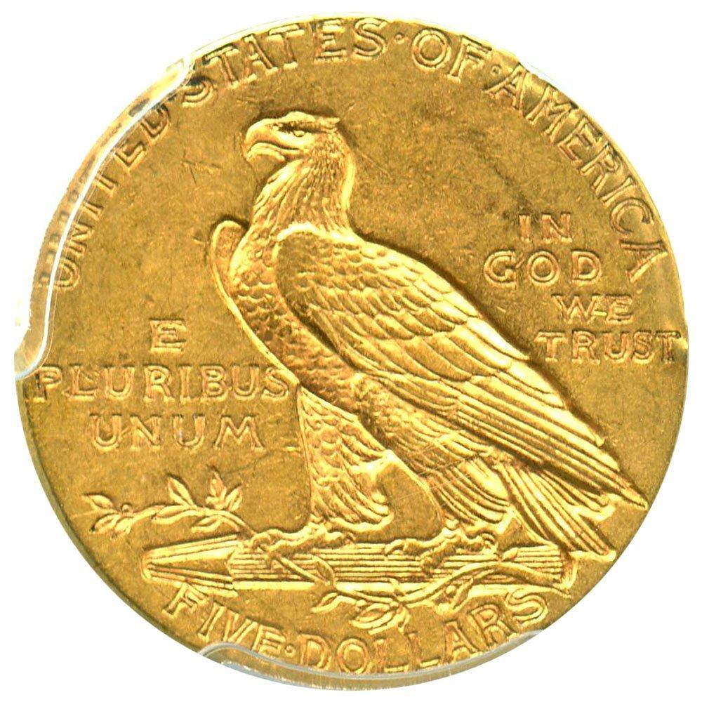 1910 P $5 Indian Gold Five Dollar PCGS AU58