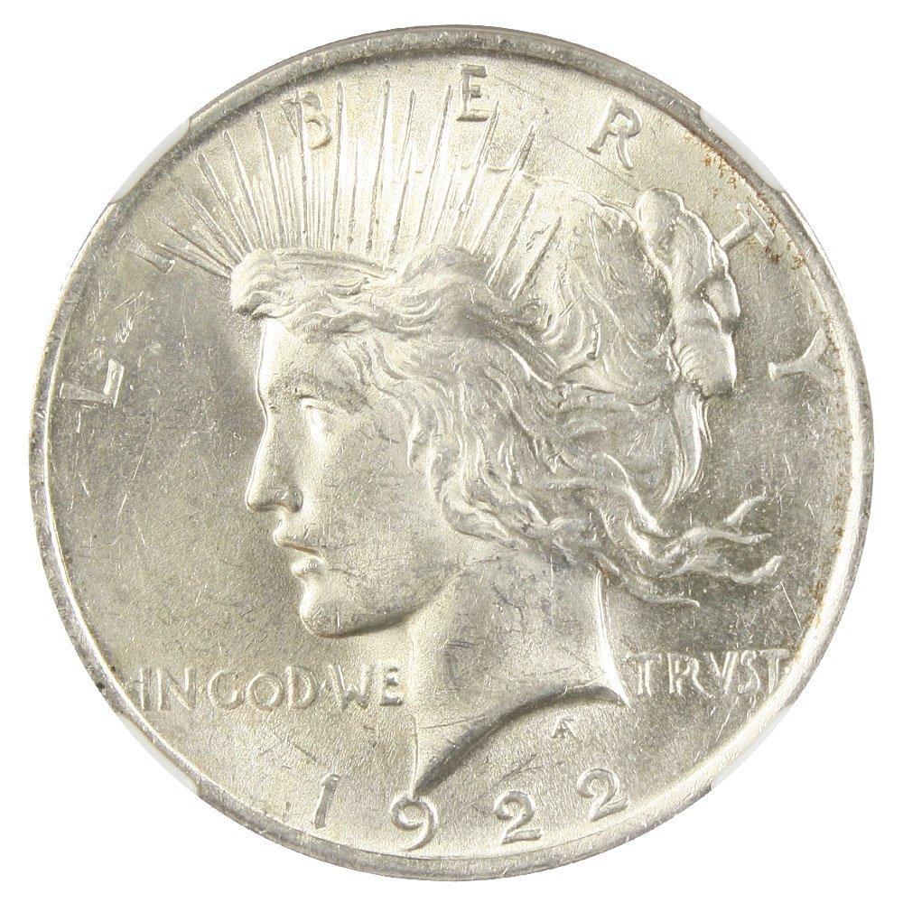 Rare coin for sale: 1922 P Peace Dollars Dollar NGC AU58