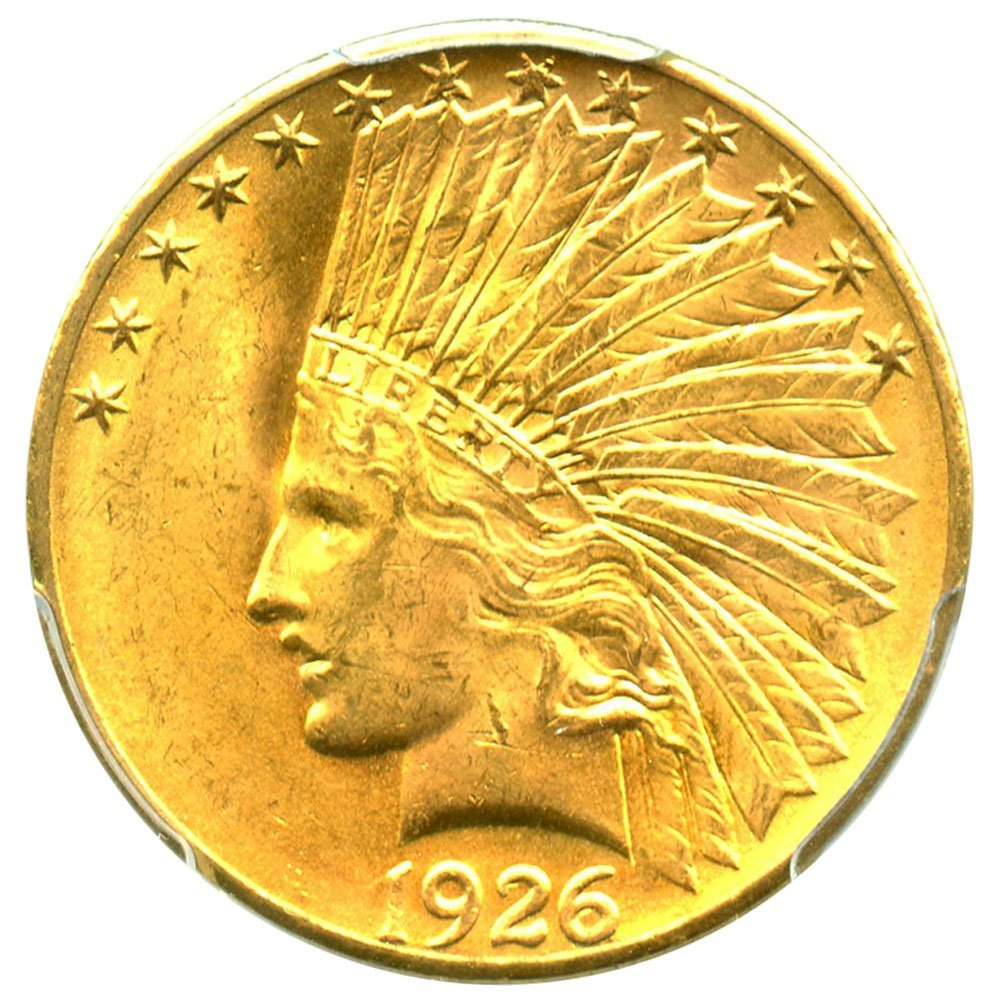 rare coin for sale: 1926 P $10 Indian Gold Ten Dollar PCGS MS64