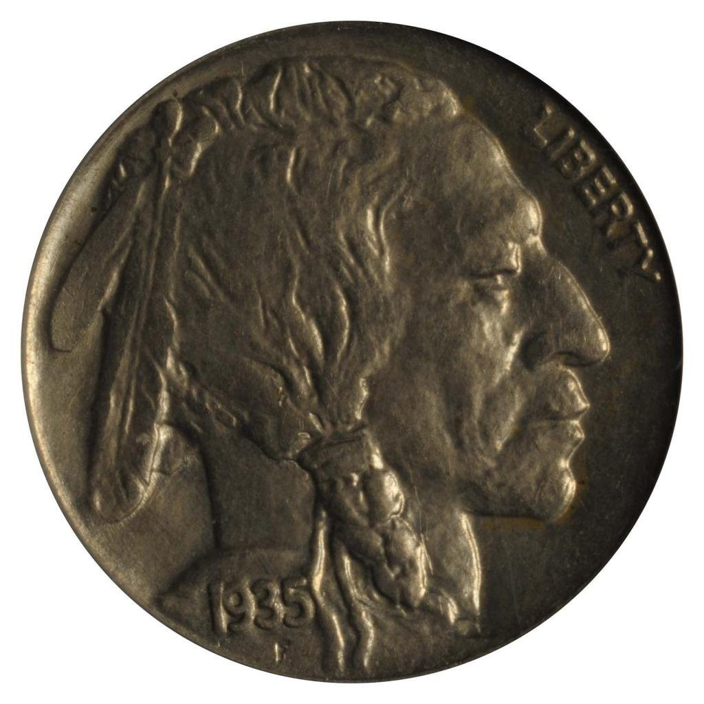 For sale: 1935 No Mint Mark Buffalo Nickel Error PCGS MS-64