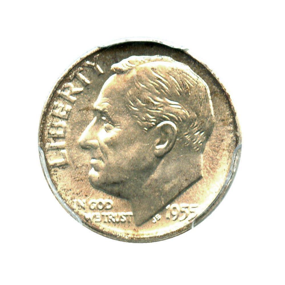 For sale: 1955 D Roosevelt Dimes Dime FB PCGS MS67