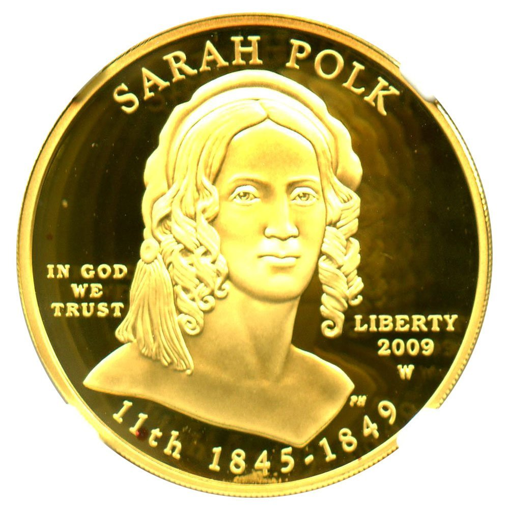 rare coin for sale: 2009 W $10 First Spouse Sarah Polk Ten Dollar PR69 NGC DCAM