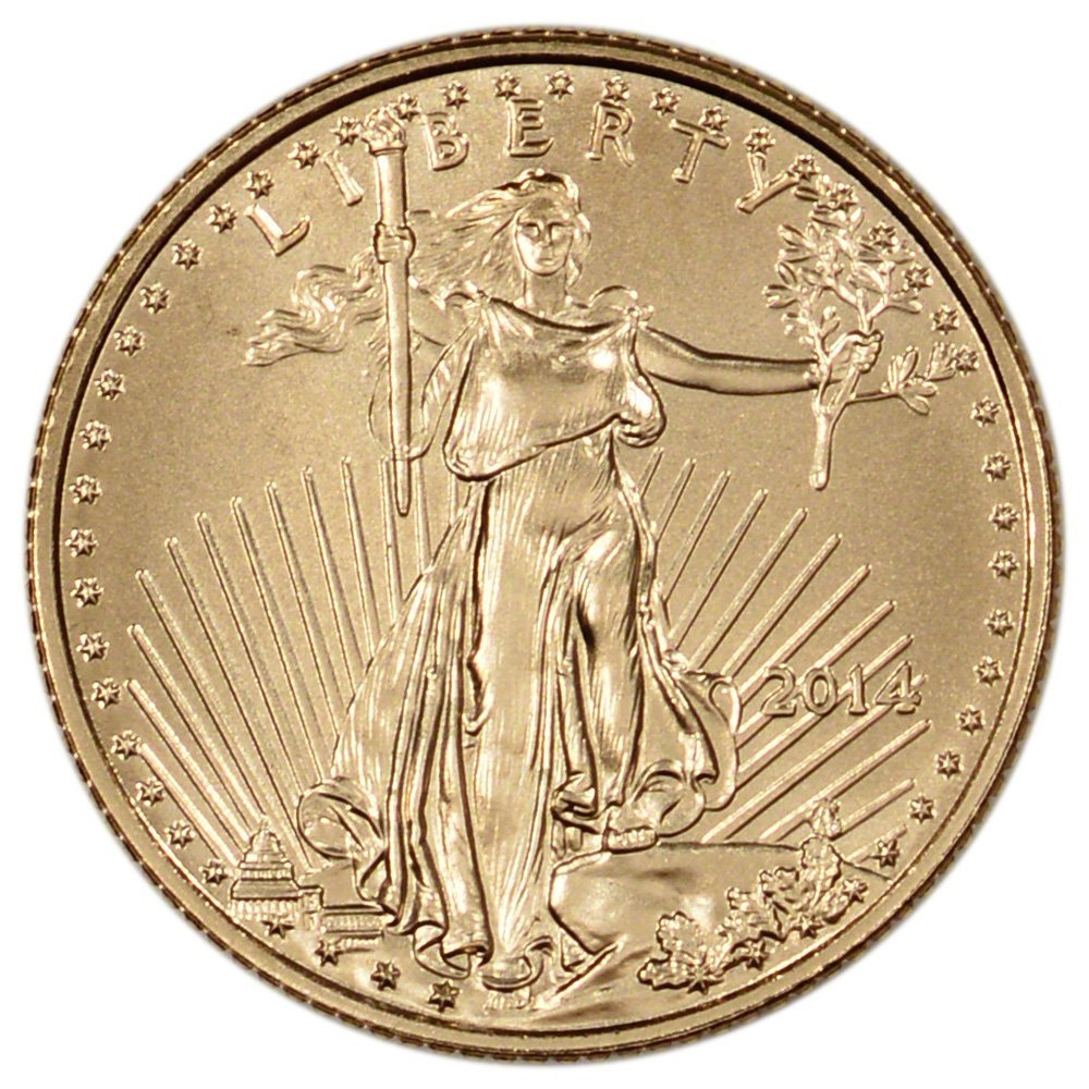 Rare coin for sale: 2014 American Gold Eagle $5 US Mint BU