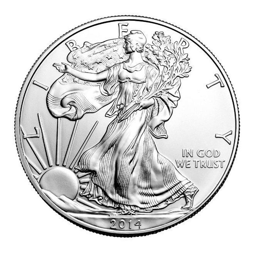 2014 No Mint Mark Rare coin for sale: 2014 American Silver Eagle Dollar Seller Choice Uncirculated