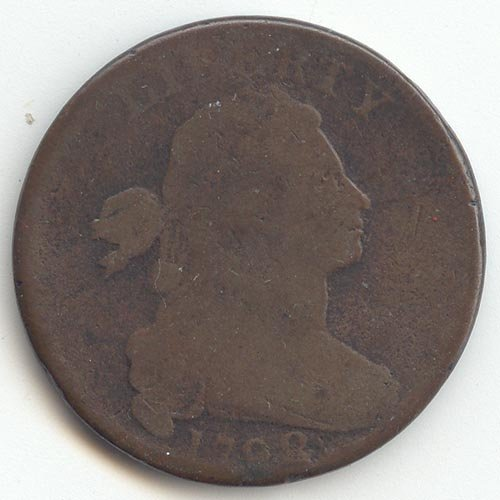 Rare coin for sale: 1798 P Draped Bust S-166 Cent G-6