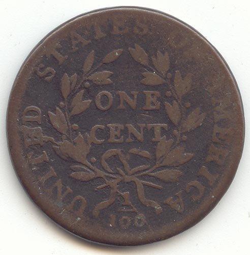 1798 P Draped Bust S-166 Cent G-6