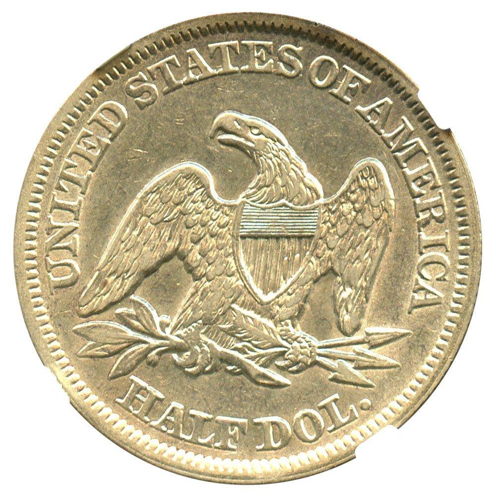 1854 P Liberty Seated Half Dollars Arrows Half Dollar AU53 NGC