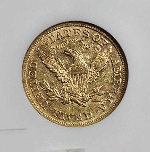 1871 Half Eagle Five Dollar AU-58 NGC
