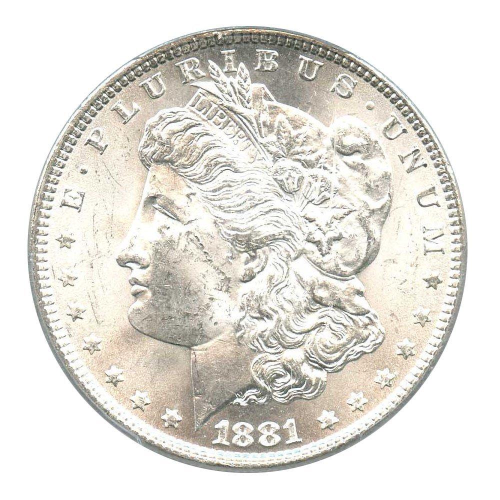 Rare coin for sale: 1881 P Morgan Dollars Dollar MS63 PCGS