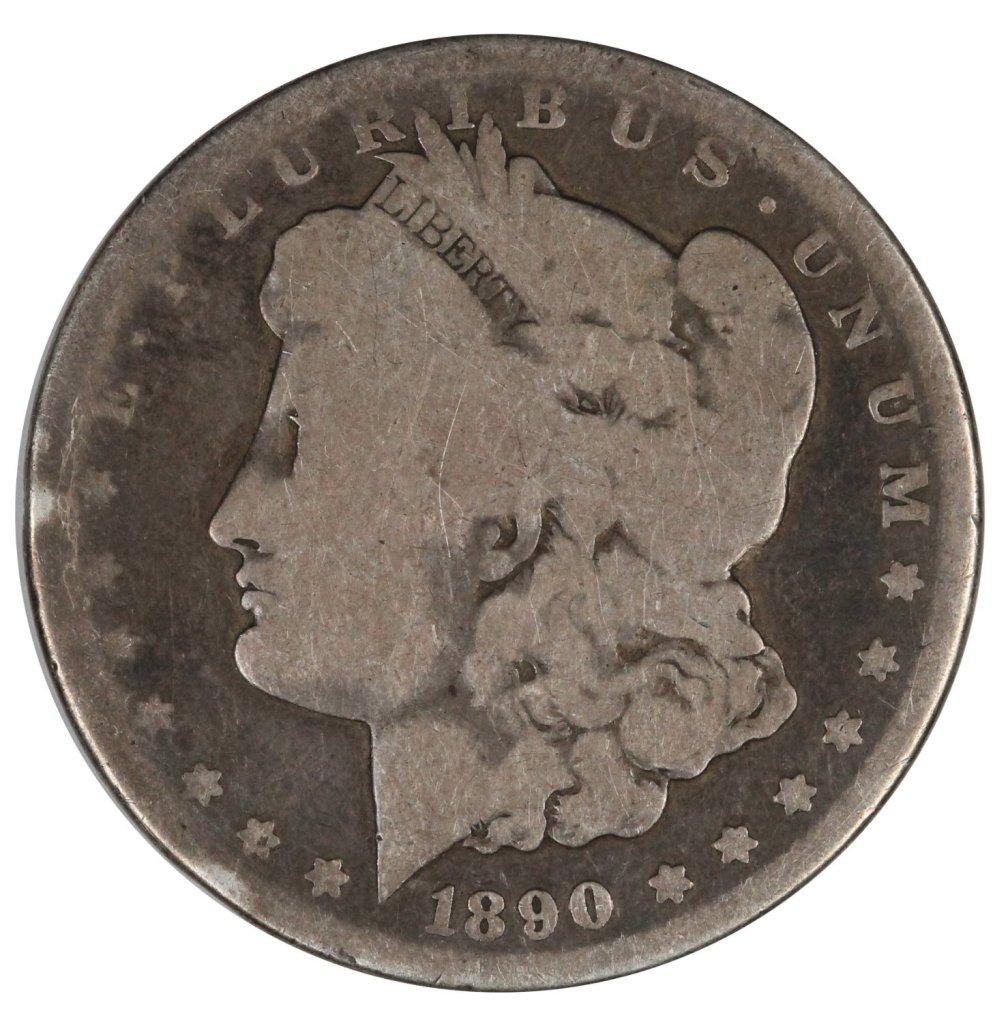 rare coin for sale: 1890-CC $1 Morgan Silver Dollar Nice About Good $1