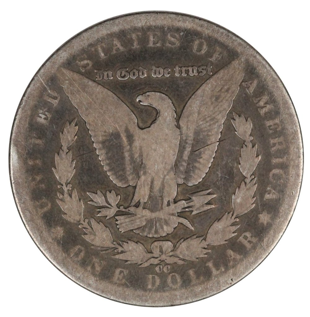 1890-CC $1 Morgan Silver Dollar Nice About Good $1
