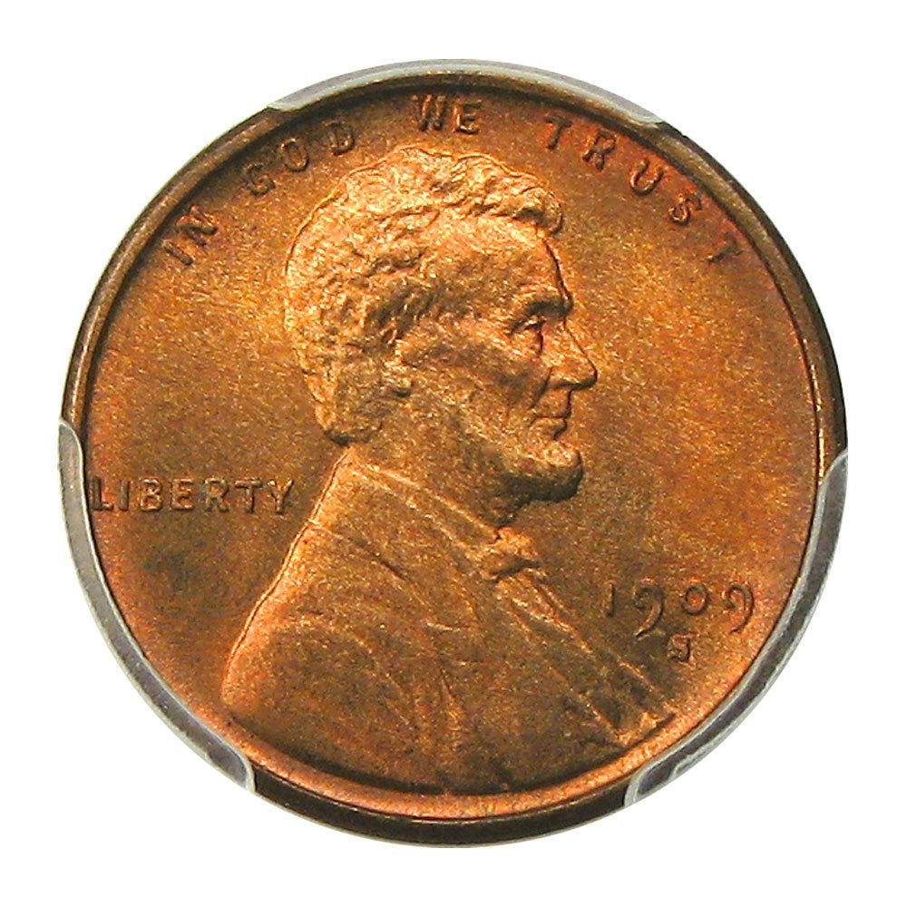 Rare coin for sale: 1909 S Lincoln Cents Cent MS66 PCGS\CAC RB