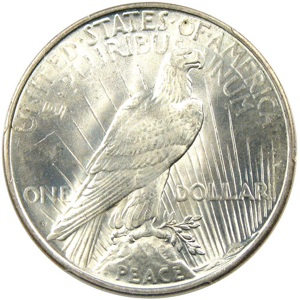 1923 D Peace Dollars Dollar PCGS MS66