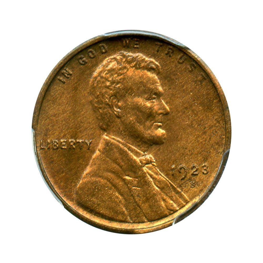 Rare coin for sale: 1923 S Lincoln Cents Cent MS64 PCGS\CAC RB