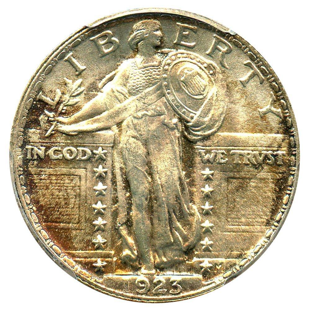 Rare coin for sale: 1923 P Standing Liberty Quarters Quarter PCGS MS66