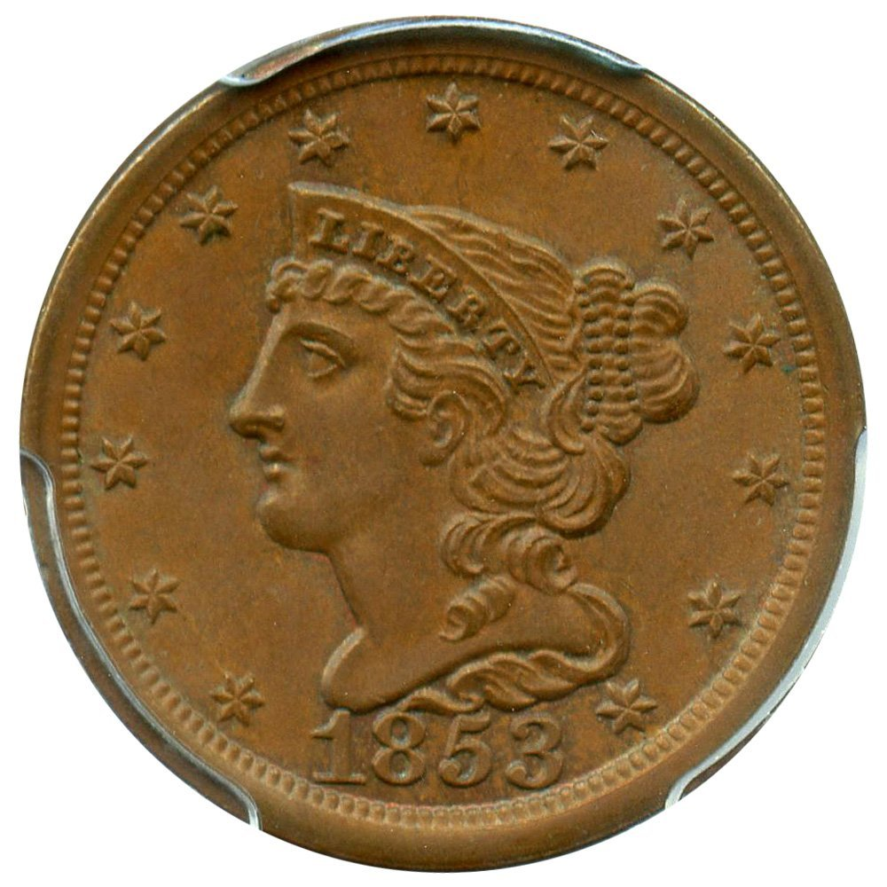 Rare coin for sale: 1853 P Half Cents Half Cent MS66 PCGS BN