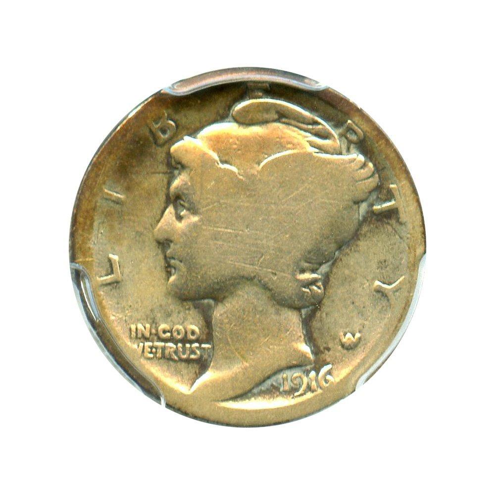 Rare coin for sale: 1916 D Mercury Dimes Dime AG-3 PCGS