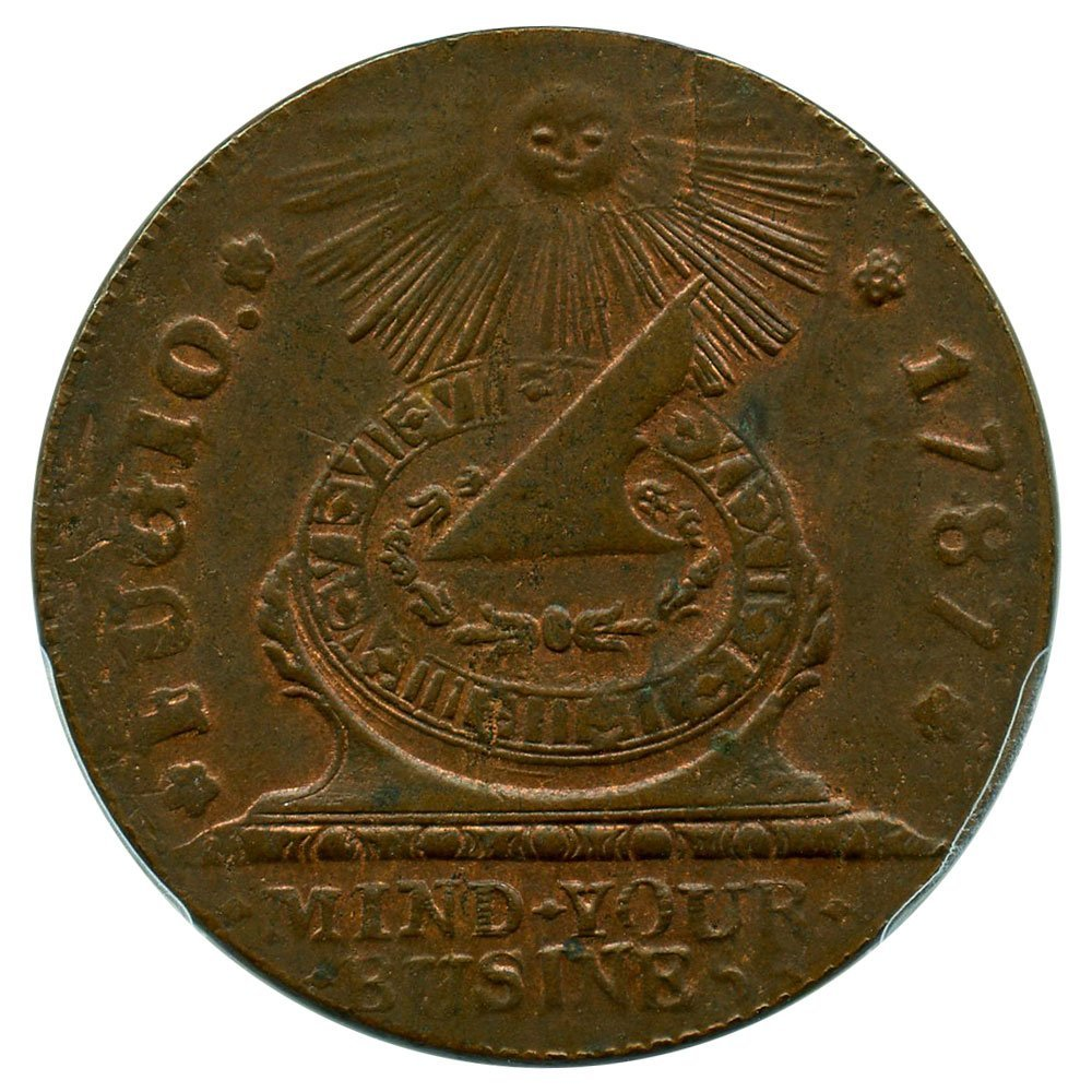 Rare coin for sale: 1787 Colonial & Post-Colonial Coinage Cinquefoils STATES UNITED Cent MS63 PCGS\CAC BN