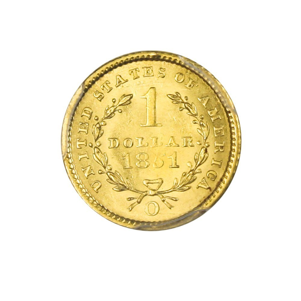 1851 O $1 Gold Dollar MS63 PCGS