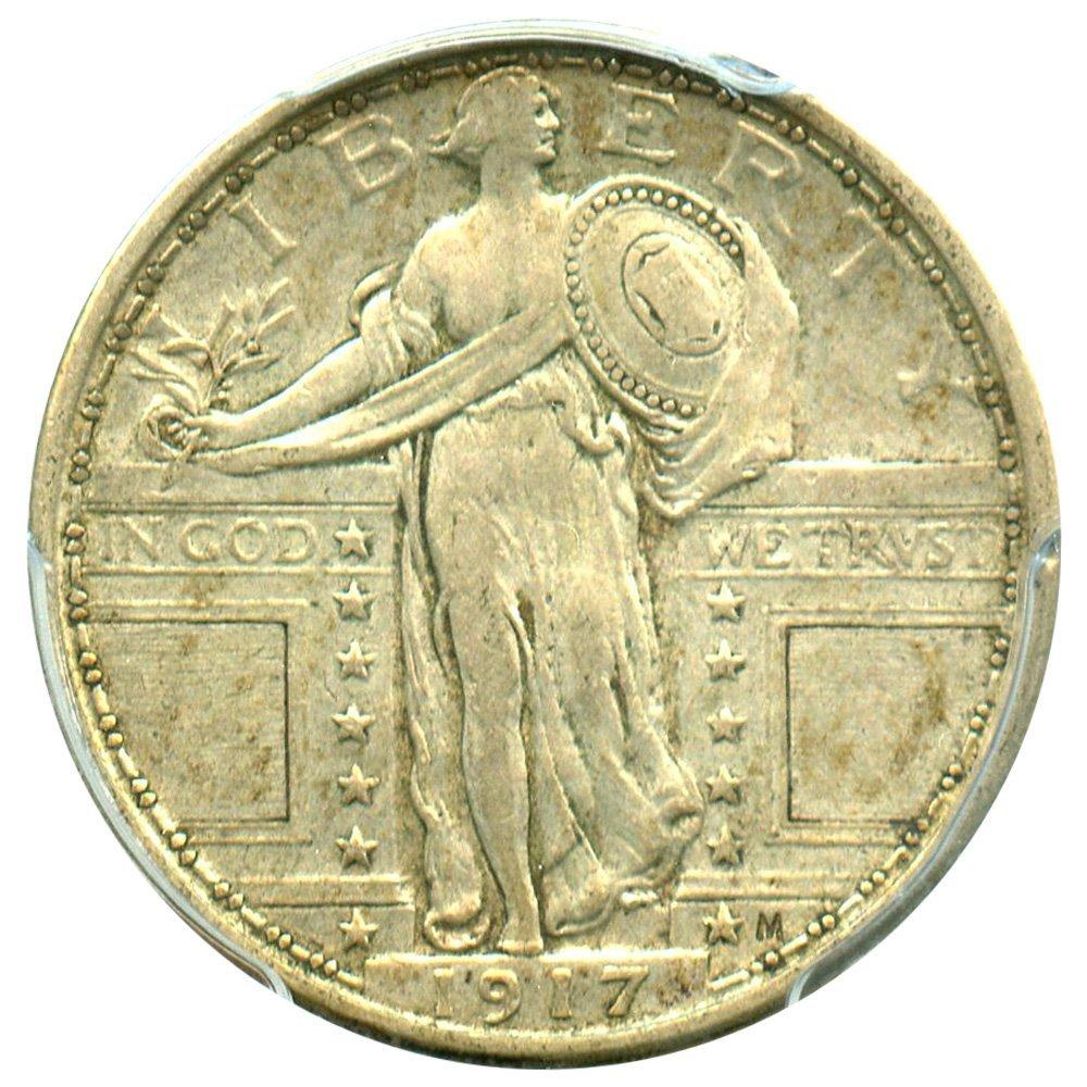 Rare coin for sale: 1917 P Standing Liberty Quarters Type 1 Quarter AU53 PCGS
