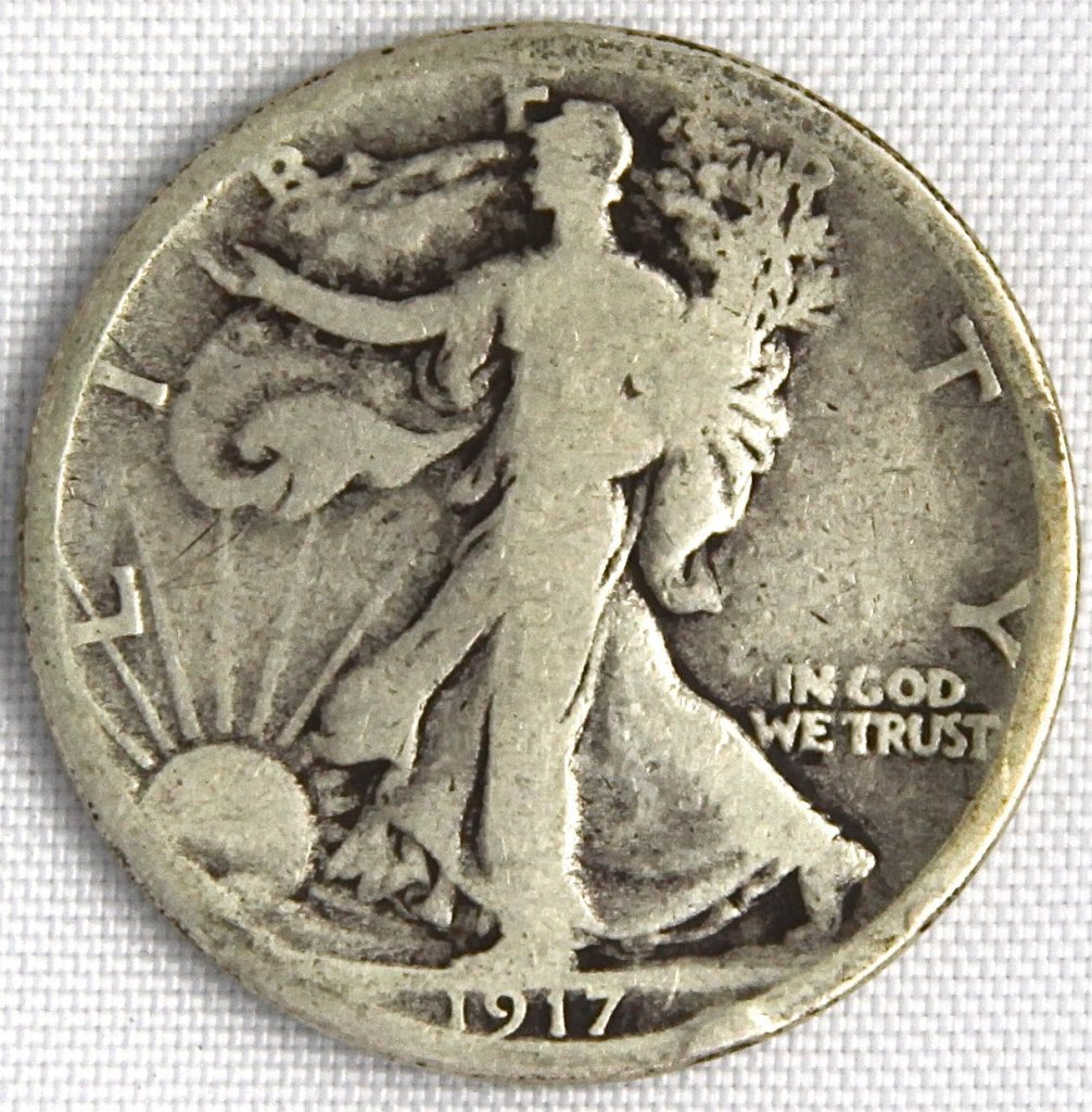 1917-S Silver Liberty Walking Half Dolla