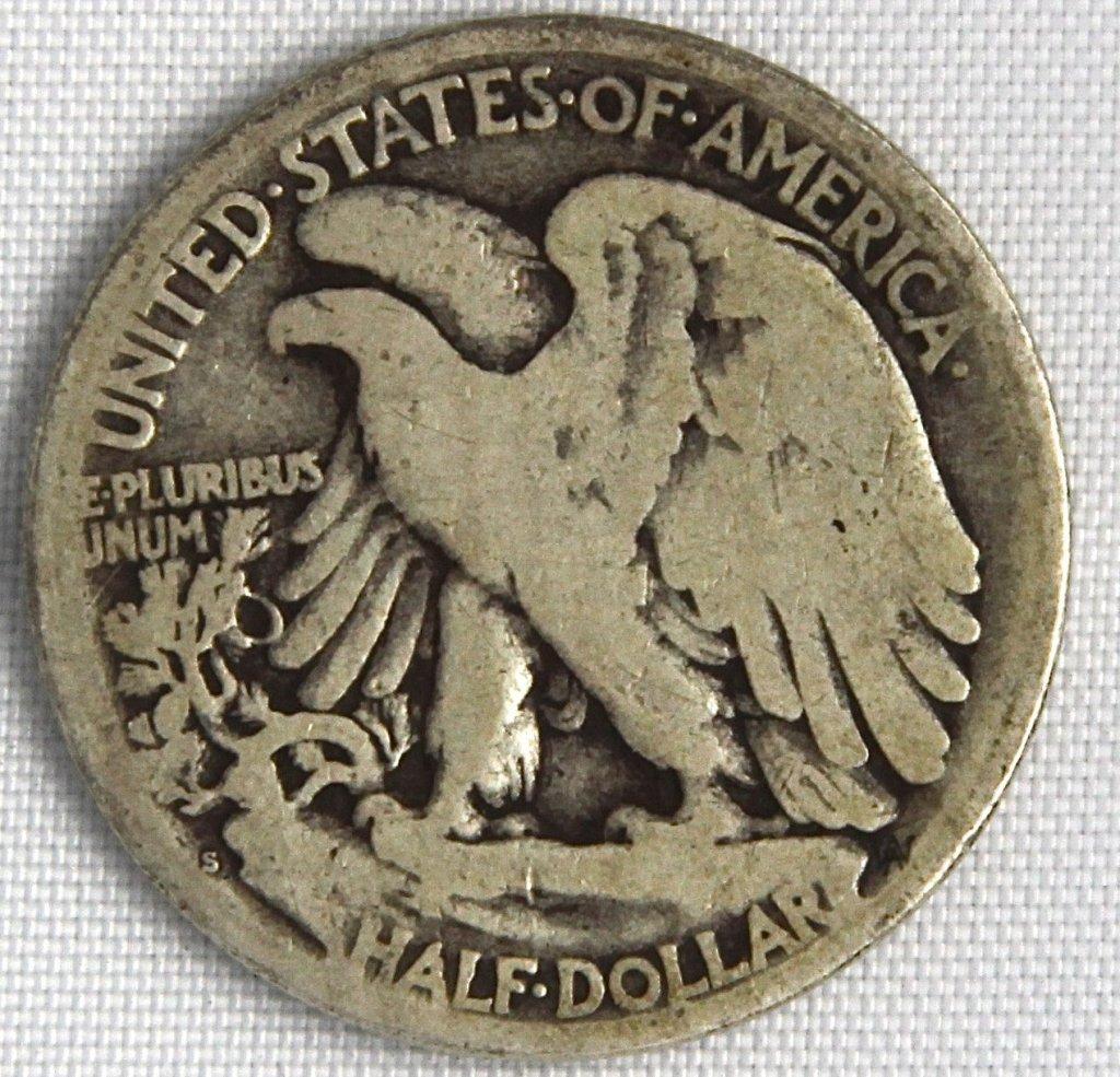 1917-S Silver Liberty Walking Half Dollar