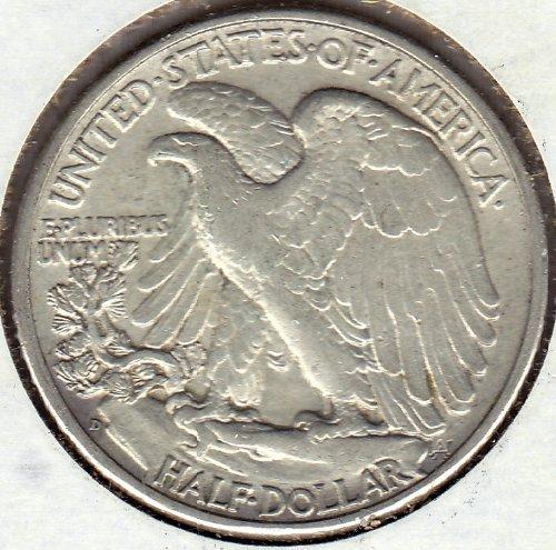 1939 D Walking Liberty Half Dolllar Uncirculated US Mint