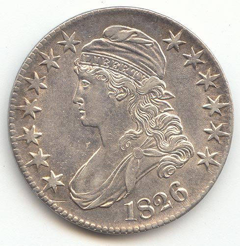 Rare coin for sale: 1826 P Capped Bust Half Dollar AU-55