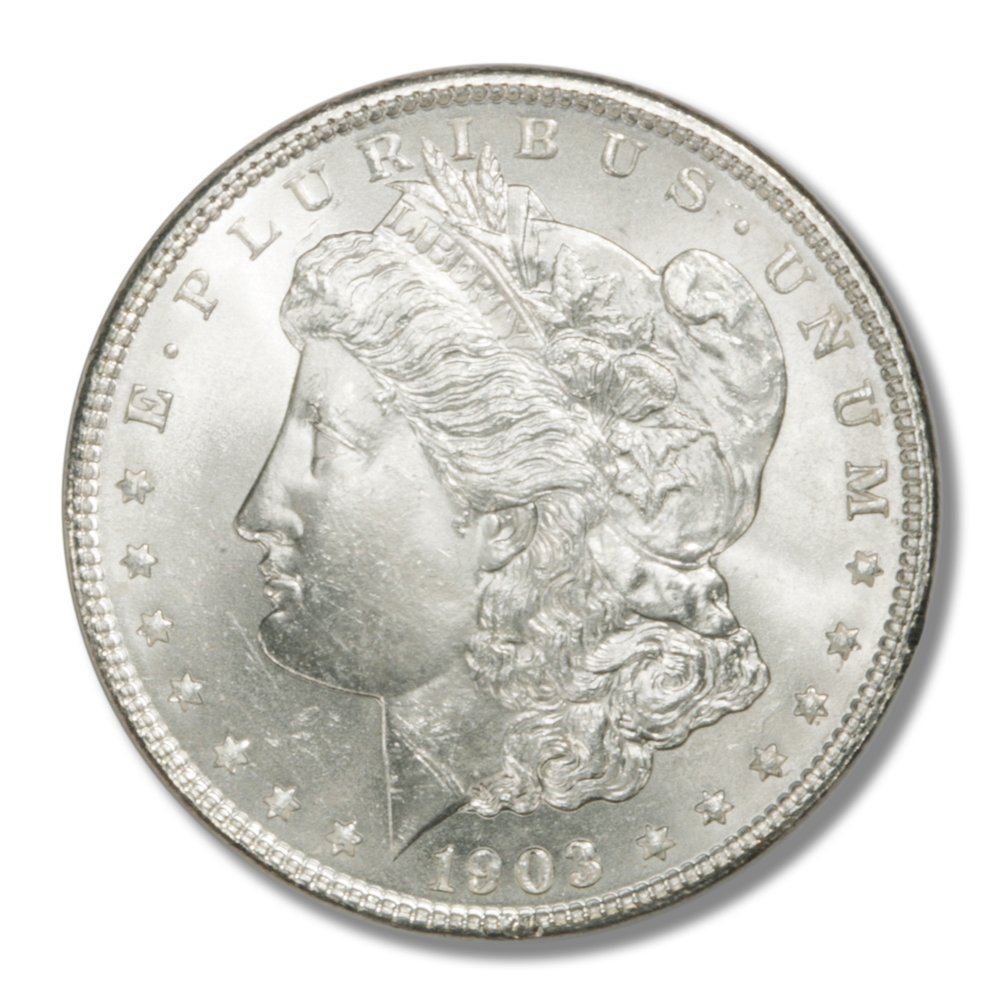 Rare coin for sale: 1903 Morgan Silver Dollar MS64 US Mint Choice Brilliant Uncirculated #2 and #3