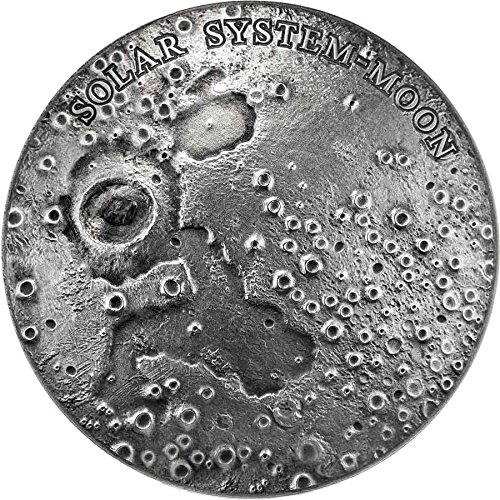 2015 NU solar system SOLAR SYSTEM MOON NWA 8609 Lunar Meteorite Ultra High Relief Silver Coin 1$ Niue 2015 Dollar Perfect Uncirculated