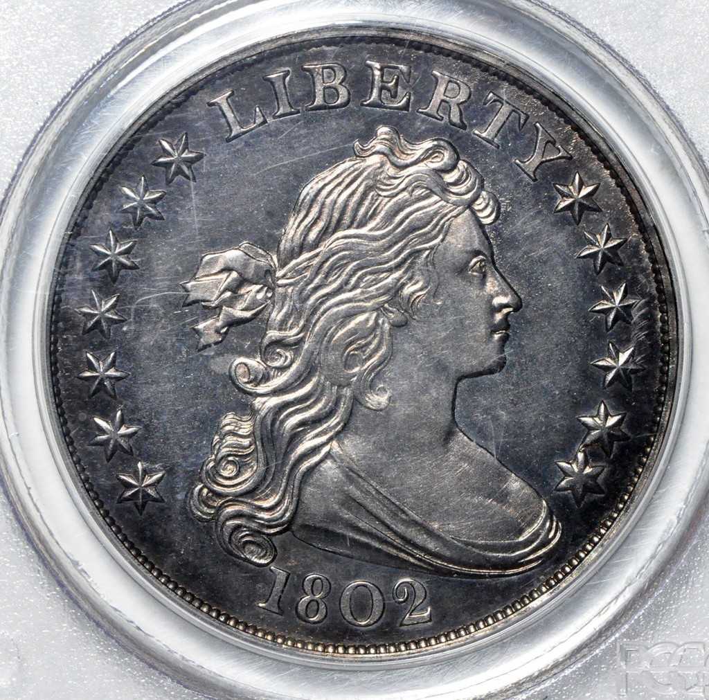 rare coin for sale: 1802 Draped Bust Dollar PR65 PCGS