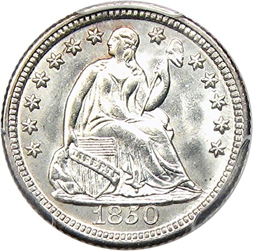 Rare coin for sale: 1850 P Seated Half Dimes Half Dime MS65 PCGS