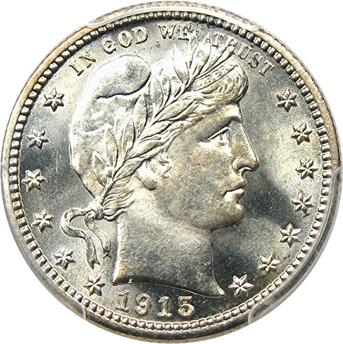 rare coin for sale: 1915 S Barber Quarters Quarter MS66 PCGS