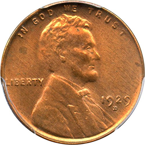 rare coin for sale: 1929 D Lincoln Cents Cent MS65 PCGS RD