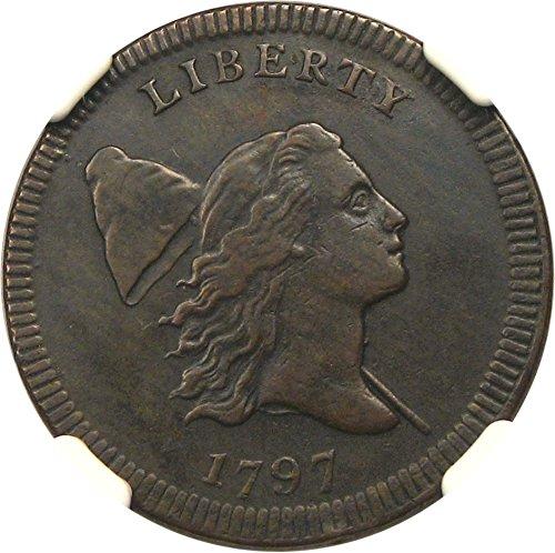 Rare coin for sale: 1797 P Half Cents Plain Edge Half Cent AU50 NGC BN