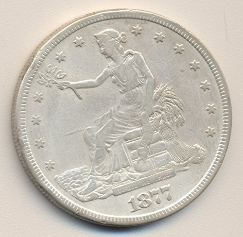 Rare coin 1877 S TRADE Silver Dollar VERY FINE