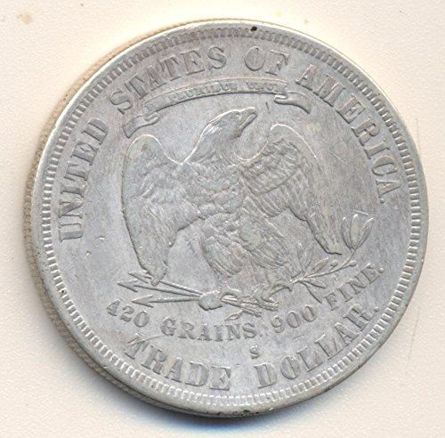 1877 S TRADE Silver Dollar VERY FINE